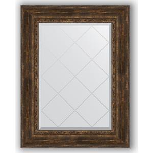 Зеркало с гравировкой поворотное Evoform Exclusive-G 72x95 см, в багетной раме - состаренное дерево с орнаментом 120 мм (BY 4129) цены