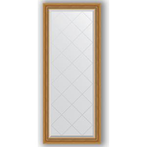 Зеркало с гравировкой поворотное Evoform Exclusive-G 63x153 см, в багетной раме - состаренное золото плетением 70 мм (BY 4131)