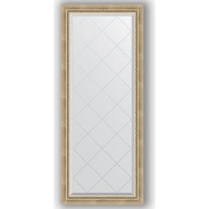 Зеркало с гравировкой поворотное Evoform Exclusive-G 63x153 см, в багетной раме - состаренное серебро плетением 70 мм (BY 4132)