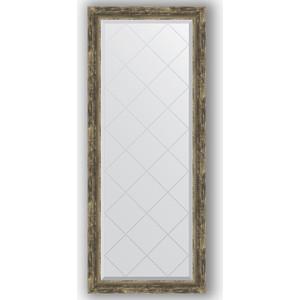 Зеркало с гравировкой поворотное Evoform Exclusive-G 63x153 см, в багетной раме - старое дерево с плетением 70 мм (BY 4135) зеркало с гравировкой поворотное evoform exclusive g 63x153 см в багетной раме состаренная бронза с плетением 70 мм by 4133