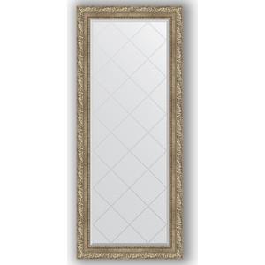 Зеркало с гравировкой поворотное Evoform Exclusive-G 65x155 см, в багетной раме - виньетка античное серебро 85 мм (BY 4143)