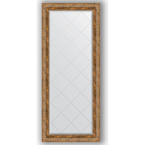 Зеркало с гравировкой поворотное Evoform Exclusive-G 65x155 см, в багетной раме - виньетка античная бронза 85 мм (BY 4144)