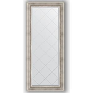 Зеркало с гравировкой поворотное Evoform Exclusive-G 66x156 см, в багетной раме - римское серебро 88 мм (BY 4147) зеркало evoform exclusive g 186х131 римское серебро