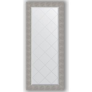 Зеркало с гравировкой поворотное Evoform Exclusive-G 66x156 см, в багетной раме - чеканка серебряная 90 мм (BY 4152)