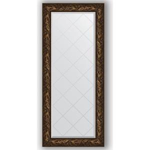 Зеркало с гравировкой поворотное Evoform Exclusive-G 69x158 см, в багетной раме - византия бронза 99 мм (BY 4158)