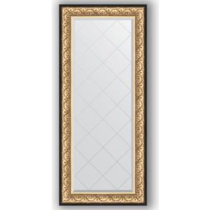 Зеркало с гравировкой поворотное Evoform Exclusive-G 70x160 см, в багетной раме - барокко золото 106 мм (BY 4165) фото
