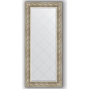 Зеркало с гравировкой поворотное Evoform Exclusive-G 70x160 см, в багетной раме - барокко серебро 106 мм (BY 4166) зеркало с гравировкой поворотное evoform exclusive g 70x160 см в багетной раме барокко золото 106 мм by 4165