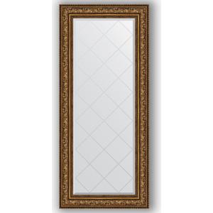 Зеркало с гравировкой поворотное Evoform Exclusive-G 70x160 см, в багетной раме - виньетка состаренная бронза 109 мм (BY 4169) зеркало в багетной раме поворотное evoform definite 54x104 см виньетка состаренная бронза 56 мм by 3073