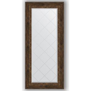 Зеркало с гравировкой поворотное Evoform Exclusive-G 72x162 см, в багетной раме - состаренное дерево с орнаментом 120 мм (BY 4172) цены