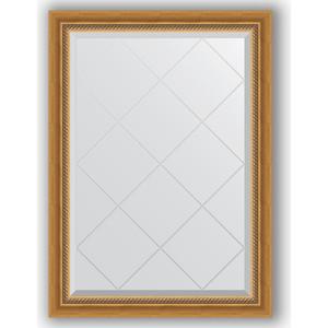 Зеркало с гравировкой поворотное Evoform Exclusive-G 73x101 см, в багетной раме - состаренное золото с плетением 70 мм (BY 4174) зеркало evoform exclusive g 86х63 состаренное золото с плетением
