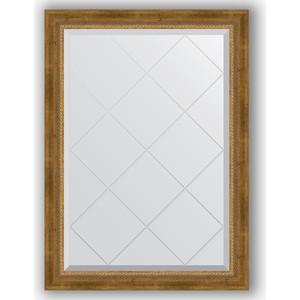 Зеркало с гравировкой поворотное Evoform Exclusive-G 73x101 см, в багетной раме - состаренная бронза плетением 70 мм (BY 4176)