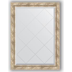 Зеркало с гравировкой поворотное Evoform Exclusive-G 73x101 см, в багетной раме - прованс плетением 70 мм (BY 4177)