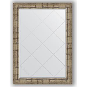 Зеркало с гравировкой поворотное Evoform Exclusive-G 73x101 см, в багетной раме - серебряный бамбук 73 мм (BY 4179)