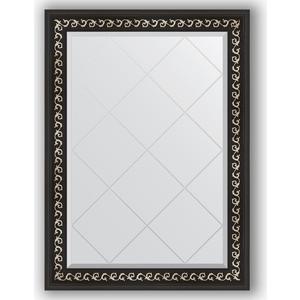 Зеркало с гравировкой поворотное Evoform Exclusive-G 75x102 см, в багетной раме - черный ардеко 81 мм (BY 4182) косметика ардеко