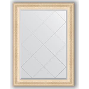 Зеркало с гравировкой поворотное Evoform Exclusive-G 75x102 см, в багетной раме - старый гипс 82 мм (BY 4183)