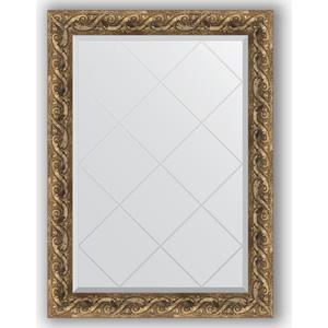 Зеркало с гравировкой поворотное Evoform Exclusive-G 76x103 см, в багетной раме - фреска 84 мм (BY 4184) зеркало с гравировкой поворотное evoform exclusive g 96x121 см в багетной раме фреска 84 мм by 4356