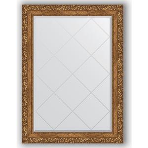 Зеркало с гравировкой поворотное Evoform Exclusive-G 75x102 см, в багетной раме - виньетка бронзовая 85 мм (BY 4185)