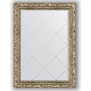 Зеркало с гравировкой поворотное Evoform Exclusive-G 75x102 см, в багетной раме - виньетка античное серебро 85 мм (BY 4186)