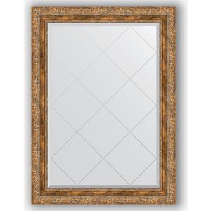 Зеркало с гравировкой поворотное Evoform Exclusive-G 75x102 см, в багетной раме - виньетка античная бронза 85 мм (BY 4187)