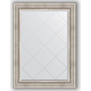 Зеркало с гравировкой поворотное Evoform Exclusive-G 76x104 см, в багетной раме - римское серебро 88 мм (BY 4190)