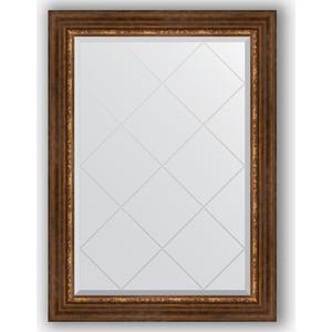 Зеркало с гравировкой поворотное Evoform Exclusive-G 76x104 см, в багетной раме - римская бронза 88 мм (BY 4191)
