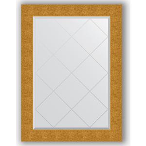 Зеркало с гравировкой поворотное Evoform Exclusive-G 76x104 см, в багетной раме - чеканка золотая 90 мм (BY 4194)