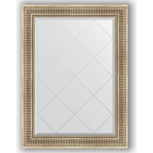 Зеркало с гравировкой поворотное Evoform Exclusive-G 77x105 см, в багетной раме - серебряный акведук 93 мм (BY 4196)