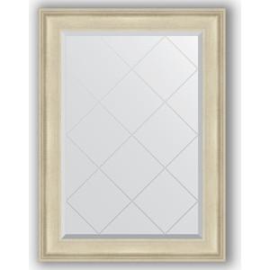 Зеркало с гравировкой поворотное Evoform Exclusive-G 78x105 см, в багетной раме - травленое серебро 95 мм (BY 4198)