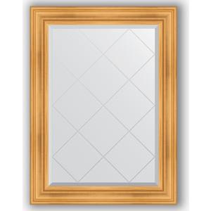 Зеркало с гравировкой поворотное Evoform Exclusive-G 79x106 см, в багетной раме - травленое золото 99 мм (BY 4202)