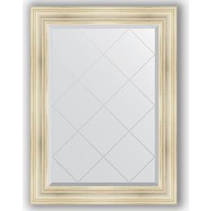 Зеркало с гравировкой поворотное Evoform Exclusive-G 79x106 см, в багетной раме - травленое серебро 99 мм (BY 4203)