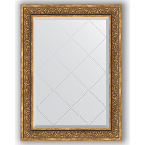 Зеркало с гравировкой поворотное Evoform Exclusive-G 79x106 см, в багетной раме - вензель бронзовый 101 мм (BY 4206)