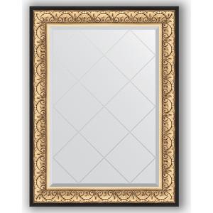 Зеркало с гравировкой поворотное Evoform Exclusive-G 80x107 см, в багетной раме - барокко золото 106 мм (BY 4208) зеркало с фацетом в багетной раме поворотное evoform exclusive 80x170 см барокко золото 106 мм by 1311