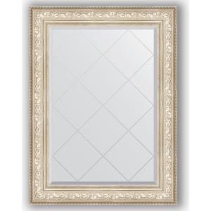 Зеркало с гравировкой поворотное Evoform Exclusive-G 80x108 см, в багетной раме - виньетка серебро 109 мм (BY 4211)