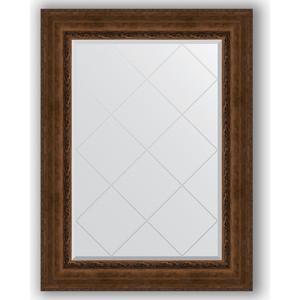 Зеркало с гравировкой поворотное Evoform Exclusive-G 82x110 см, в багетной раме - состаренная бронза орнаментом 120 мм (BY 4214)