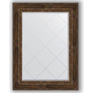 Зеркало с гравировкой поворотное Evoform Exclusive-G 82x110 см, в багетной раме - состаренное дерево с орнаментом 120 мм (BY 4215) цены
