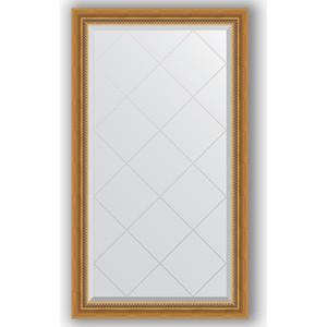 Зеркало с гравировкой поворотное Evoform Exclusive-G 73x128 см, в багетной раме - состаренное золото с плетением 70 мм (BY 4217) зеркало evoform exclusive g 86х63 состаренное золото с плетением