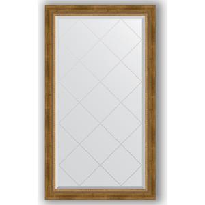 Зеркало с гравировкой поворотное Evoform Exclusive-G 73x128 см, в багетной раме - состаренная бронза плетением 70 мм (BY 4219)