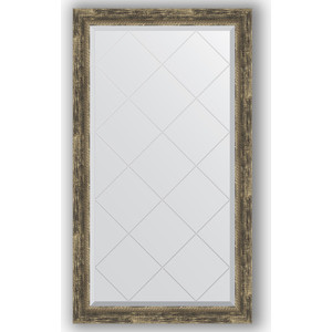 Зеркало с гравировкой поворотное Evoform Exclusive-G 73x128 см, в багетной раме - старое дерево с плетением 70 мм (BY 4221) фото