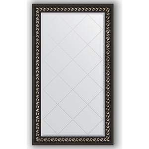Зеркало с гравировкой поворотное Evoform Exclusive-G 75x129 см, в багетной раме - черный ардеко 81 мм (BY 4225) косметика ардеко