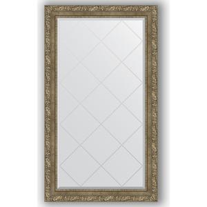 Зеркало с гравировкой поворотное Evoform Exclusive-G 75x130 см, в багетной раме - виньетка античная латунь 85 мм (BY 4231)