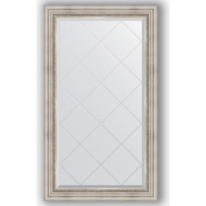 Зеркало с гравировкой поворотное Evoform Exclusive-G 76x131 см, в багетной раме - римское серебро 88 мм (BY 4233) зеркало evoform exclusive g 186х131 римское серебро
