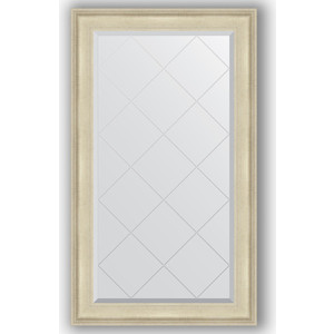 Зеркало с гравировкой поворотное Evoform Exclusive-G 78x133 см, в багетной раме - травленое серебро 95 мм (BY 4241)