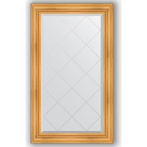 Зеркало с гравировкой поворотное Evoform Exclusive-G 79x134 см, в багетной раме - травленое золото 99 мм (BY 4245)