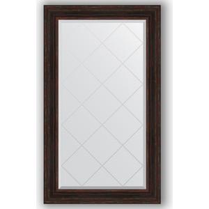 Зеркало с гравировкой поворотное Evoform Exclusive-G 79x134 см, в багетной раме - темный прованс 99 мм (BY 4248)