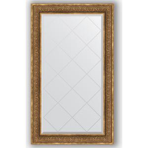 Зеркало с гравировкой поворотное Evoform Exclusive-G 79x134 см, в багетной раме - вензель бронзовый 101 мм (BY 4249)