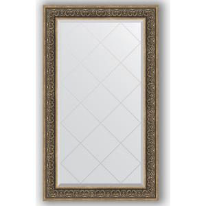 Зеркало с гравировкой поворотное Evoform Exclusive-G 79x134 см, в багетной раме - вензель серебряный 101 мм (BY 4250) зеркало в багетной раме evoform definite 73x73 см вензель серебряный 101 мм by 3160