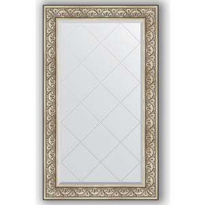 Зеркало с гравировкой поворотное Evoform Exclusive-G 80x135 см, в багетной раме - барокко серебро 106 мм (BY 4252)