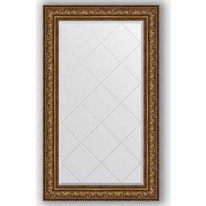 Зеркало с гравировкой поворотное Evoform Exclusive-G 80x135 см, в багетной раме - виньетка состаренная бронза 109 мм (BY 4255)