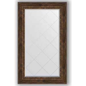 Зеркало с гравировкой поворотное Evoform Exclusive-G 82x137 см, в багетной раме - состаренное дерево с орнаментом 120 мм (BY 4258) цены