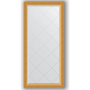Зеркало с гравировкой поворотное Evoform Exclusive-G 72x155 см, в багетной раме - состаренное золото 67 мм (BY 4259)
